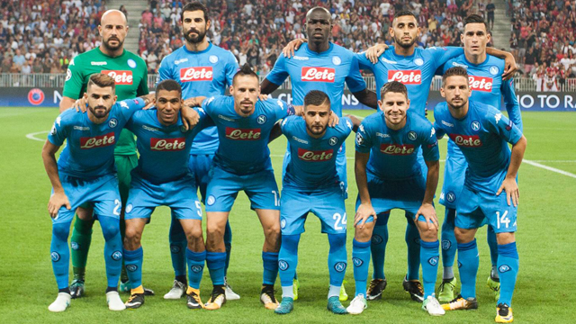 August 22 2017 Soccer team of Naples before the UEFA Champions League Qualifying Play Offs round